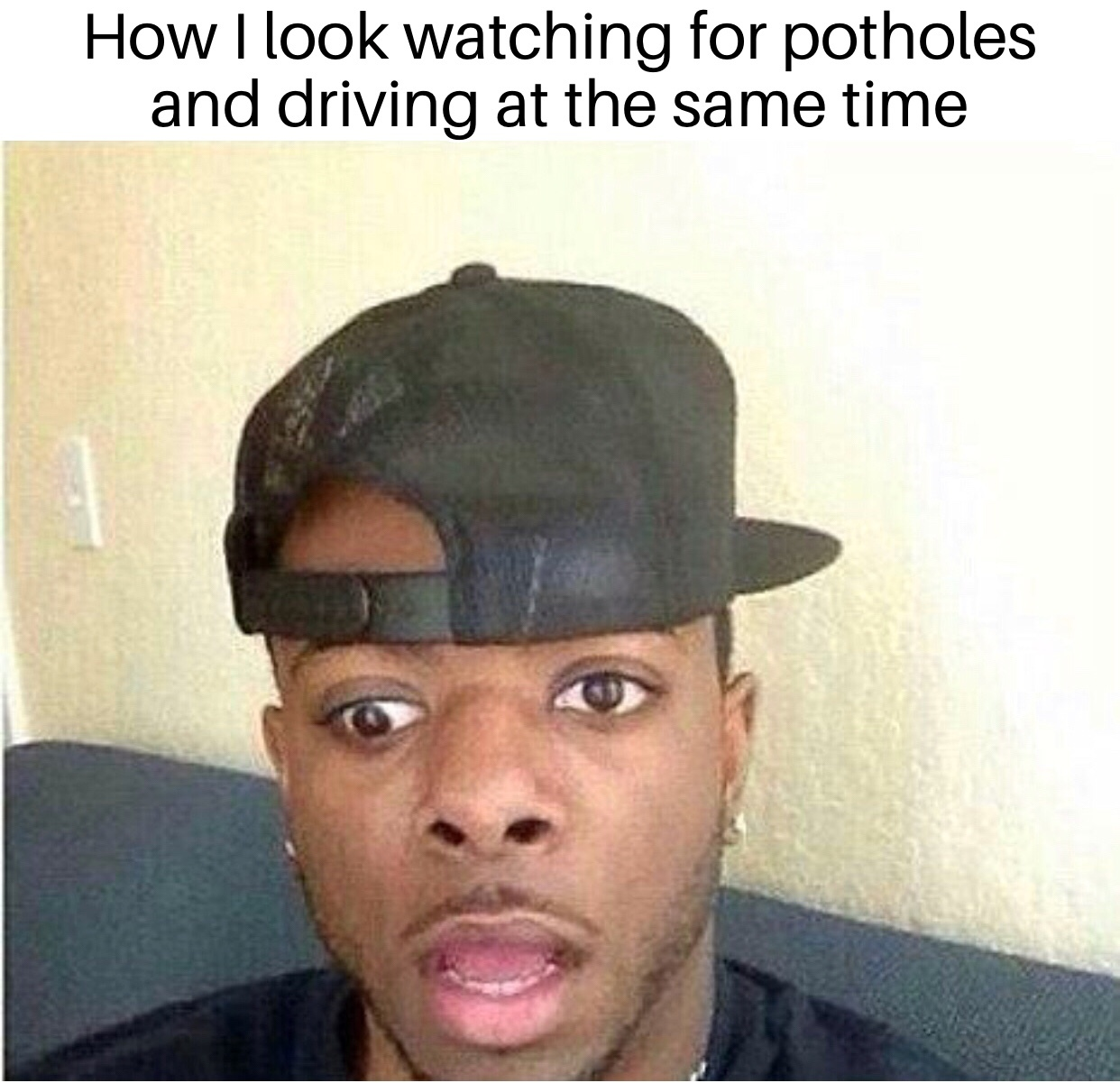 Ohio Potholes are ridiculous - meme