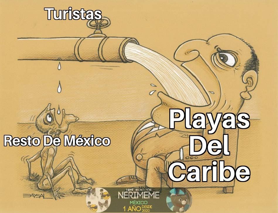 Meme: Así es el turismo internacional en México - Turismo Cómico Mexicana
