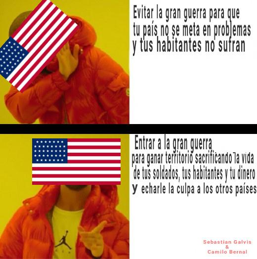 Álv el EEUU en la 1a Guerra - meme