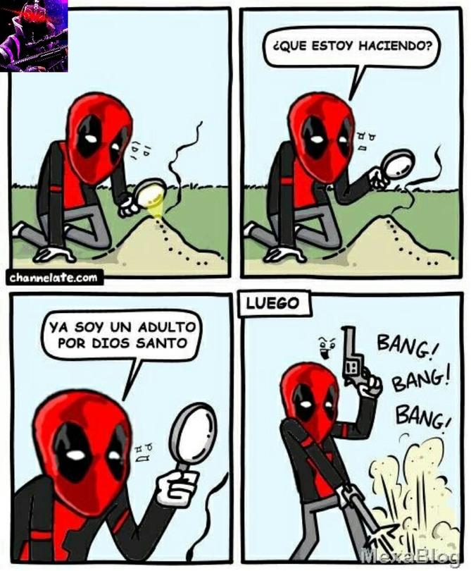 Arriba Deadpool - meme