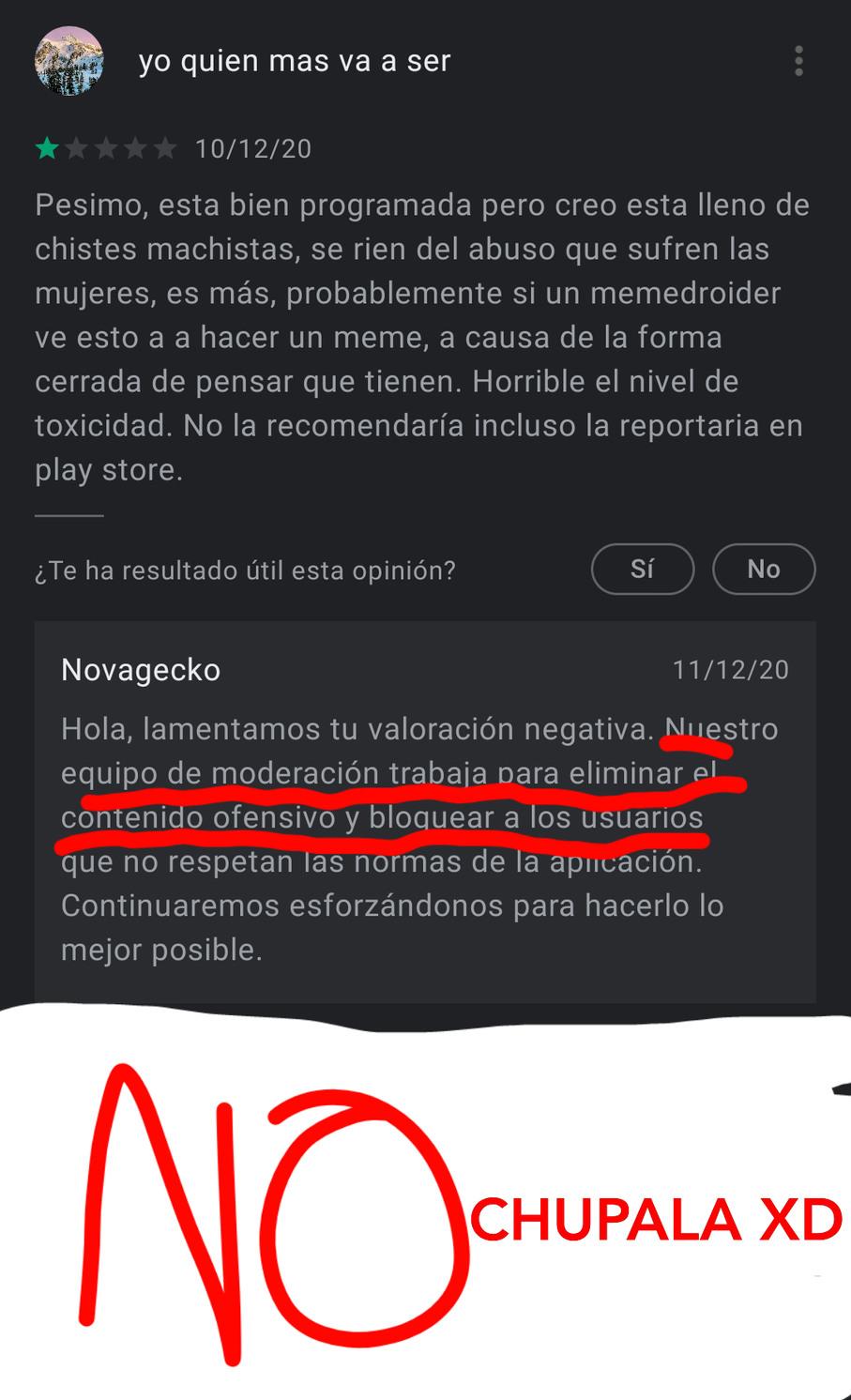 No chupala - meme