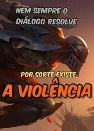 Violência é a resposta - meme