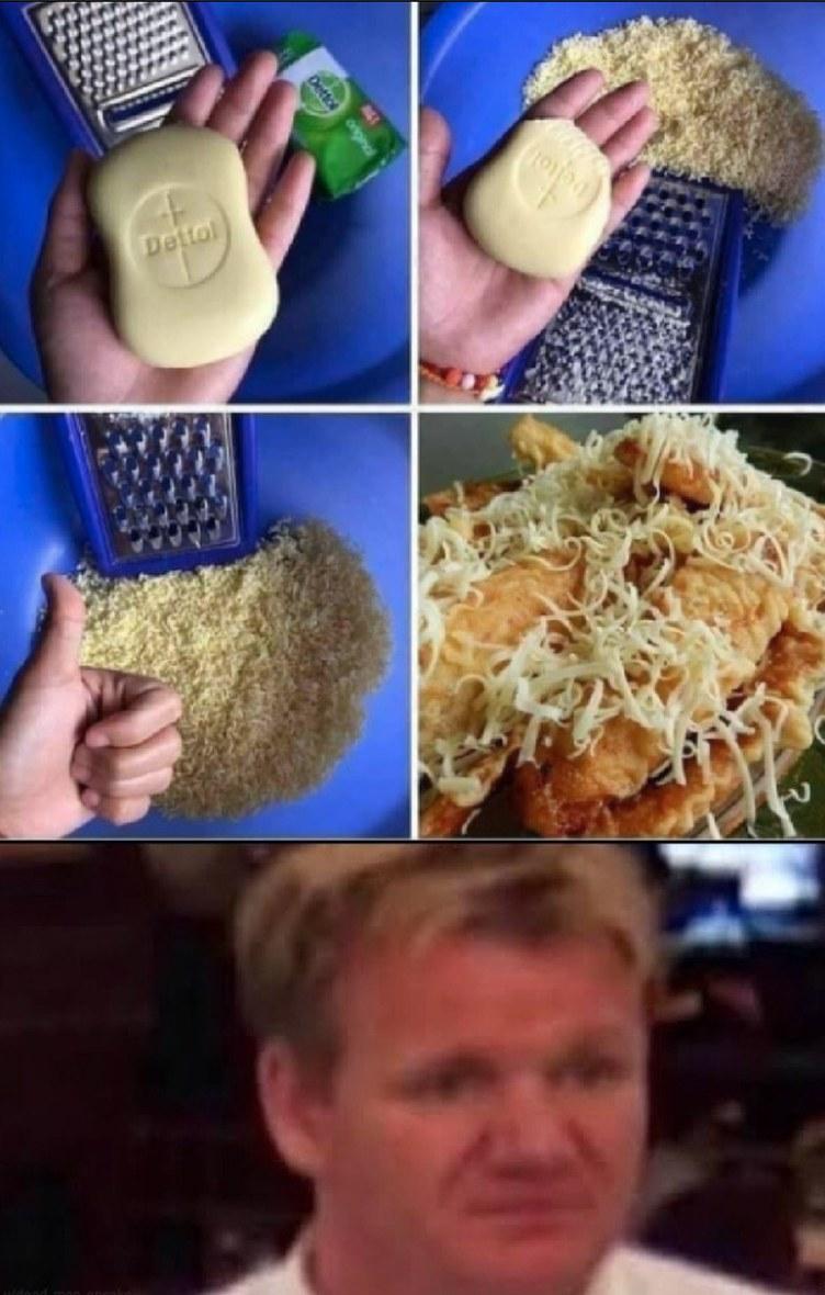 soap is cheez? - meme