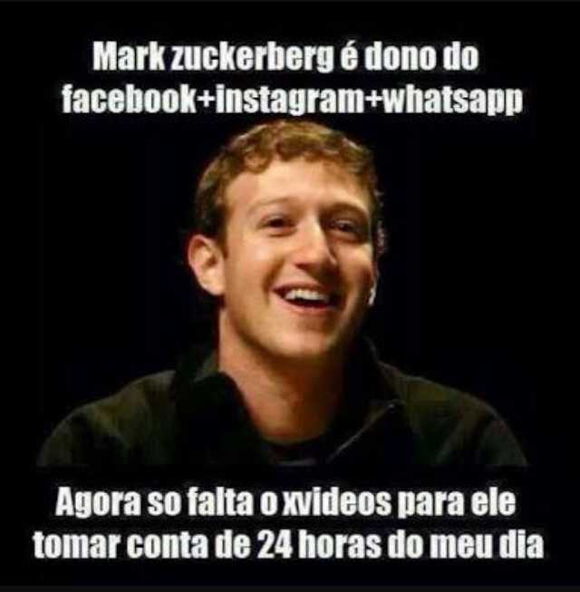 Mark Zuckerberg vai ser dono do meu dia - meme