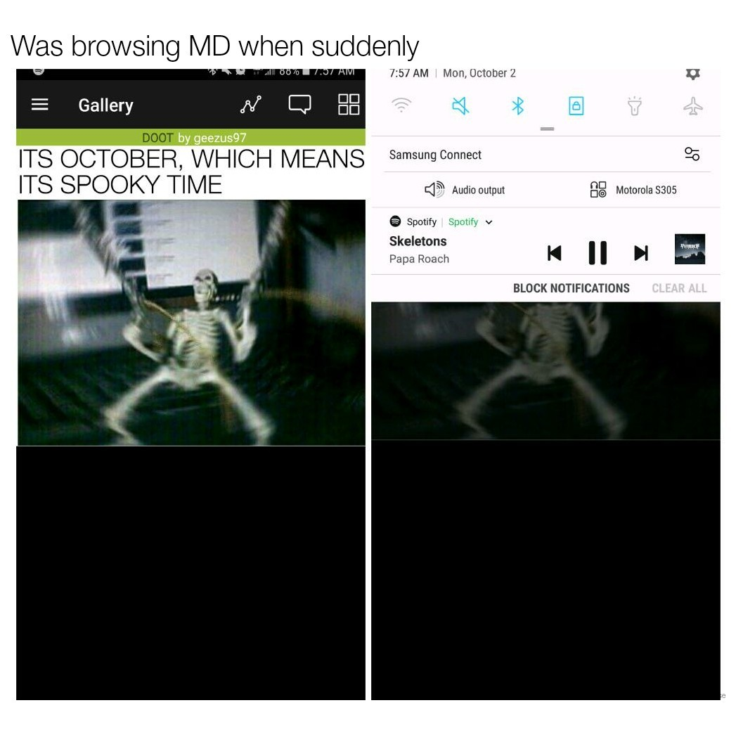 Spotify has joined the fight - meme