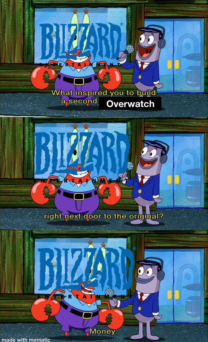overwatch 2 announced today - meme
