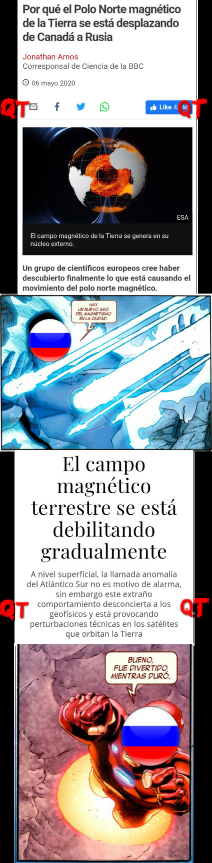 F por el magnetismo - meme