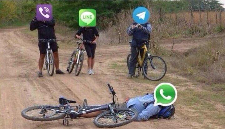 WhatsApp se cayó banda - meme