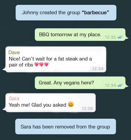 How to deal with vegans - meme