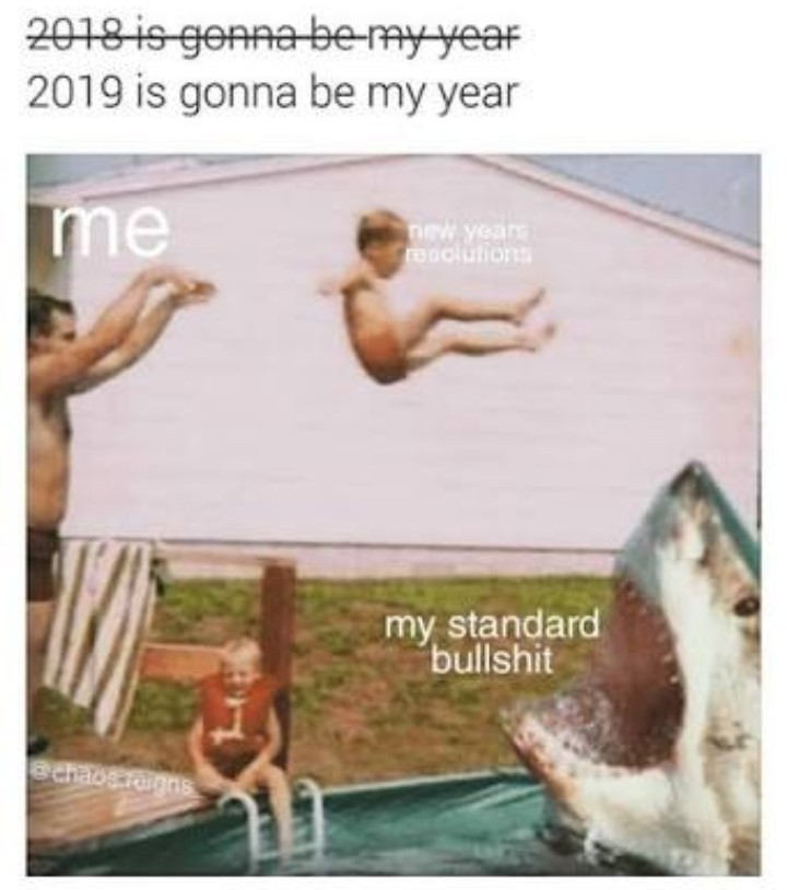 What's your new years resolution? - meme