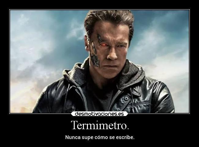 Termómetro o termimetro no importa es lo mismo - meme