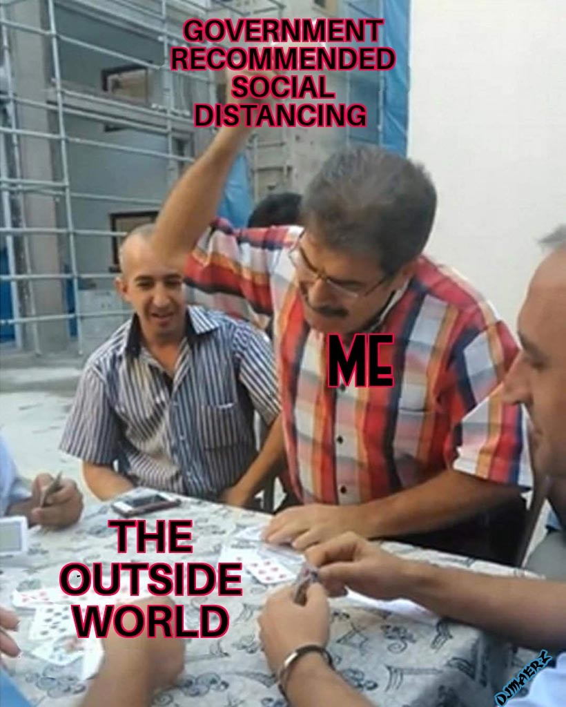 Me, an introvert - meme