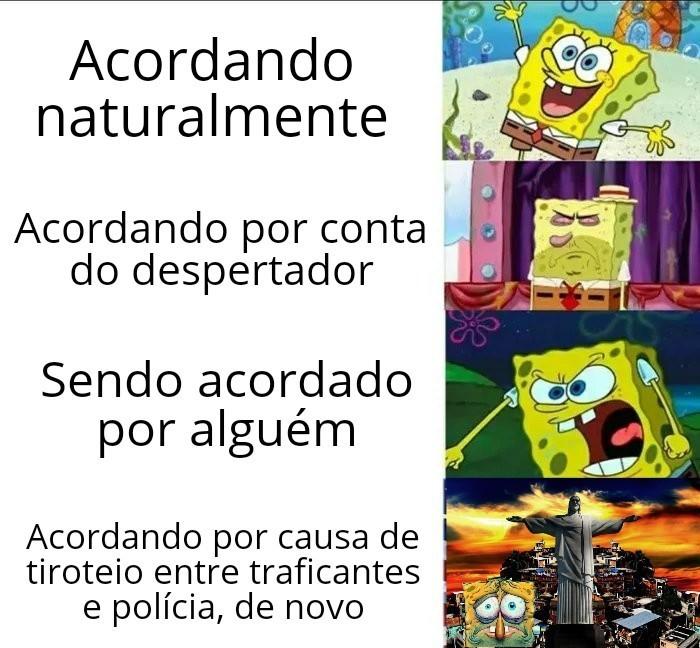 Despertador de carioca é tiro - meme