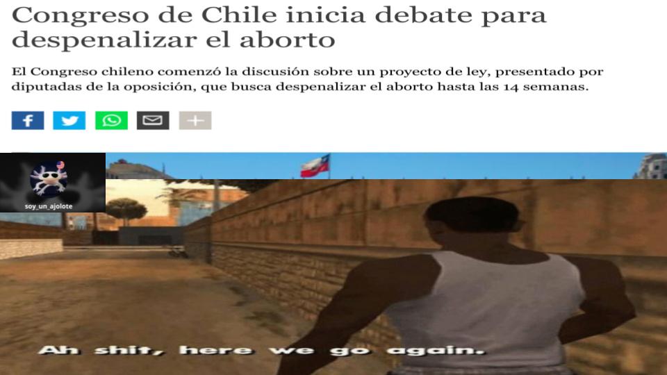primero en argentina ahora en chile... - meme