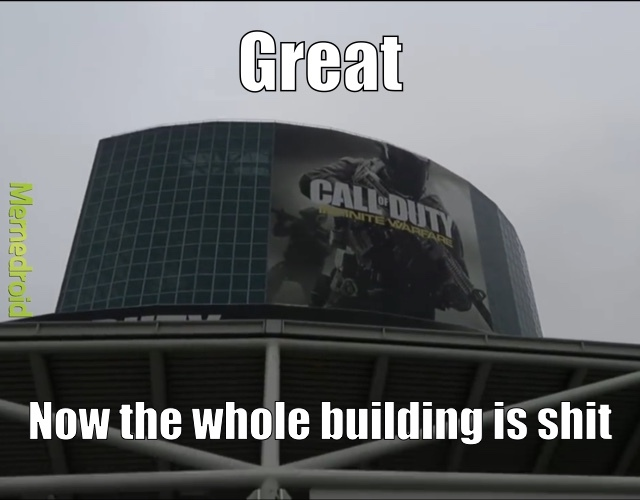 We must destroy the entire building - meme