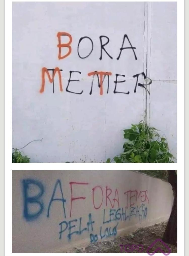 bafora o TEMER - meme