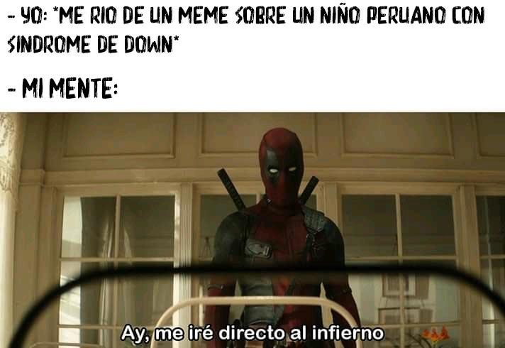 Al infierno por burlarme de un superior - meme