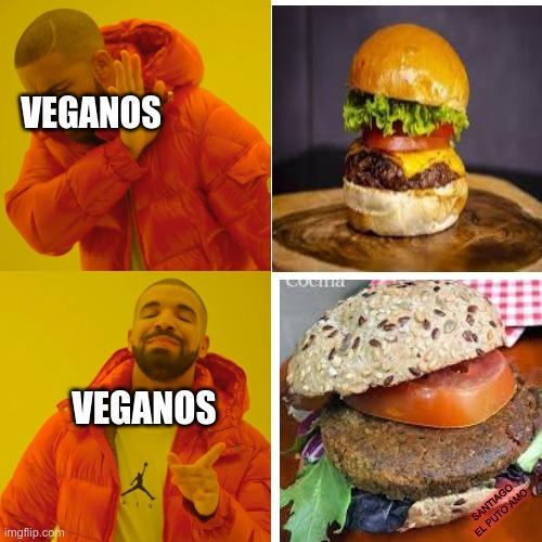 putos veganos - meme