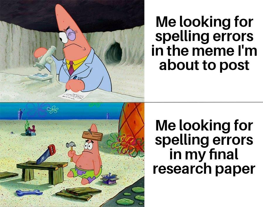 Speling errors - meme