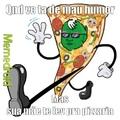 indo comer pizza