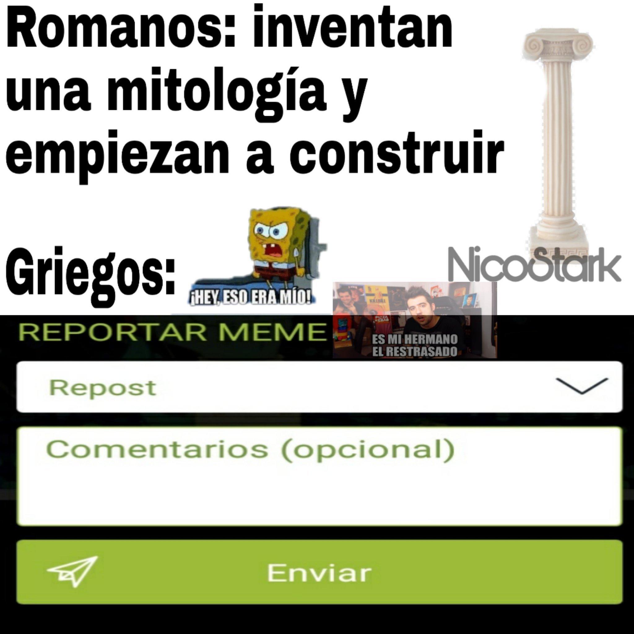 Columnas Jónicas - meme