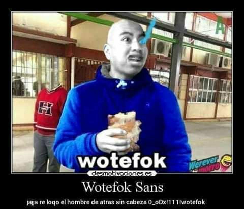 Watefok sans - meme