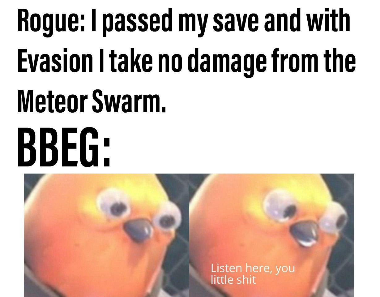 Bbeg owned - meme