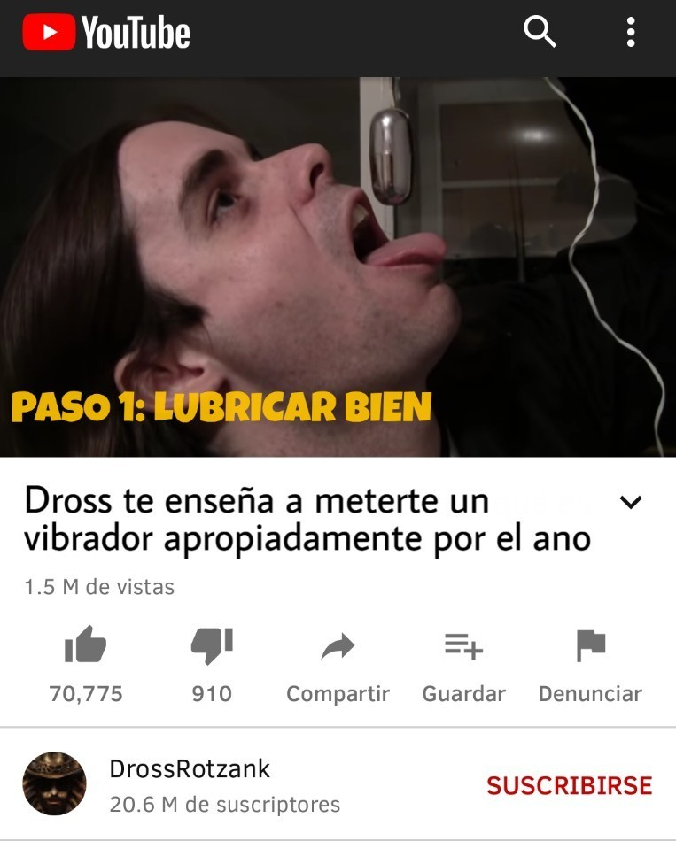 De los videos viejitos del dross... - meme