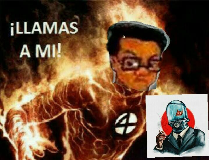 El nerd esta en fuego - meme