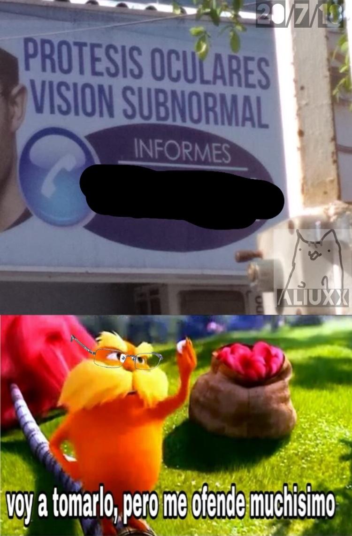subnormales con visión - meme