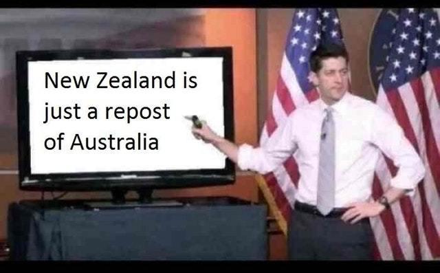 New Zealand is just a repost of Australia - meme