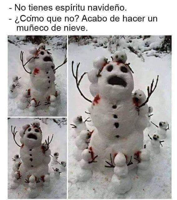 Nieve roja XD - meme