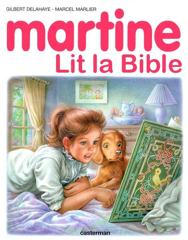 Martine lit la Bible - meme