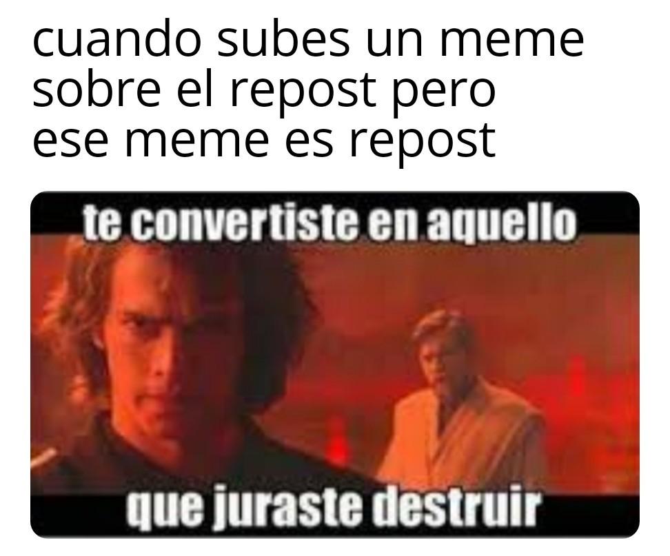 Fucking reposteros - meme
