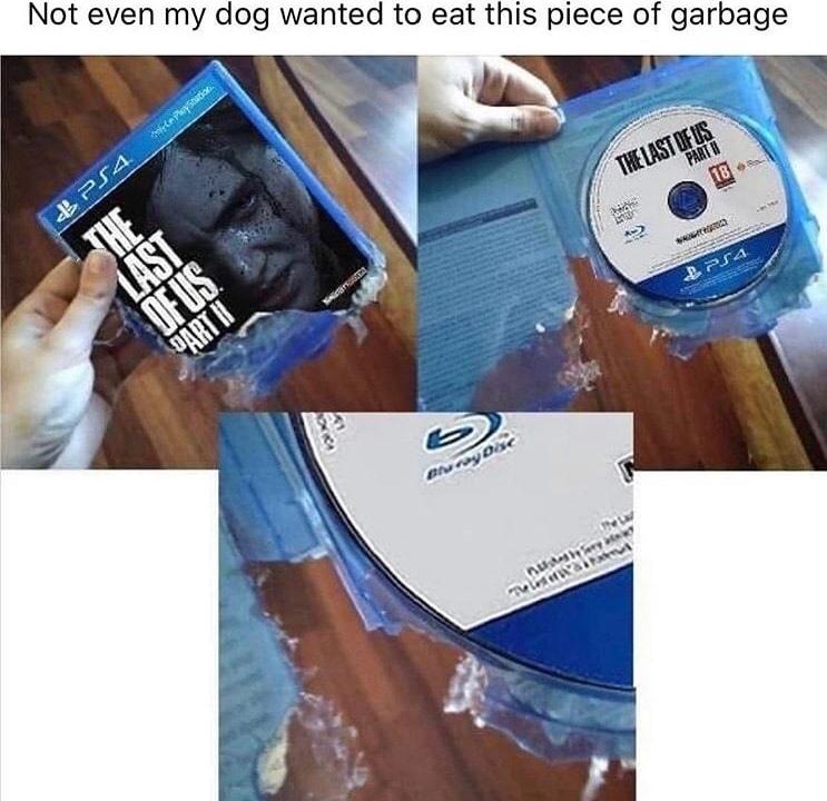 the last of us = trash - meme