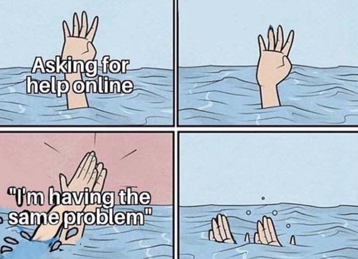 Let's drown together, shall we? - meme