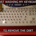 Re: It did survive. Wanna clean your keyboard wiiith me? ;)