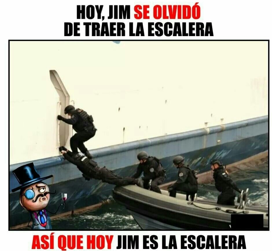 Jim es irresponsable - meme
