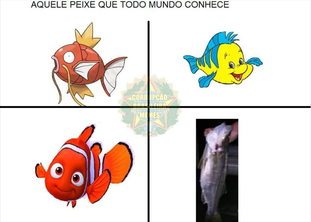 Peixes famosos - meme
