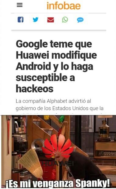 Huawei lo va a cagar jajaja - meme