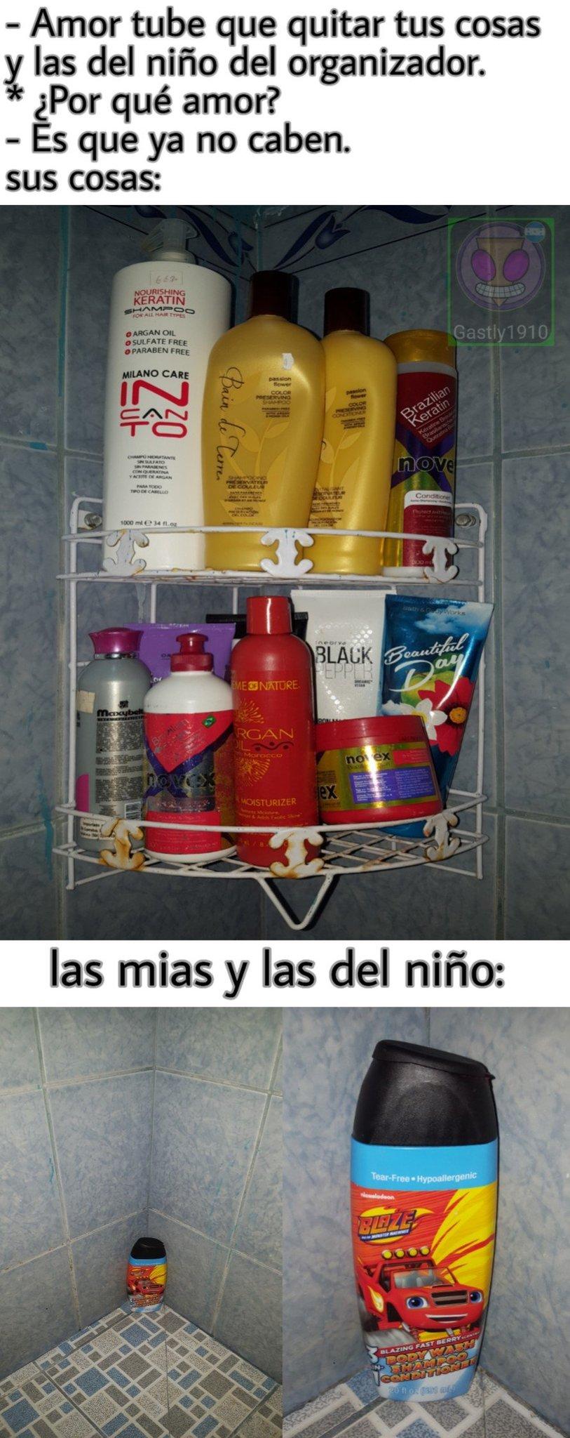 Es jabon, shampoo, acondicionador, engrosante y alargante - meme