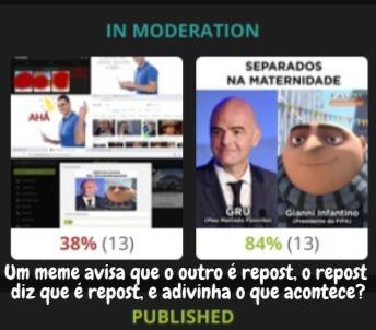 moderação está morta, vou sair do app - meme