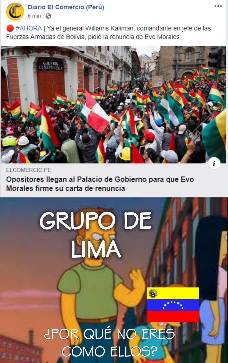 Fin del imperio Boliviano de Occidente - meme