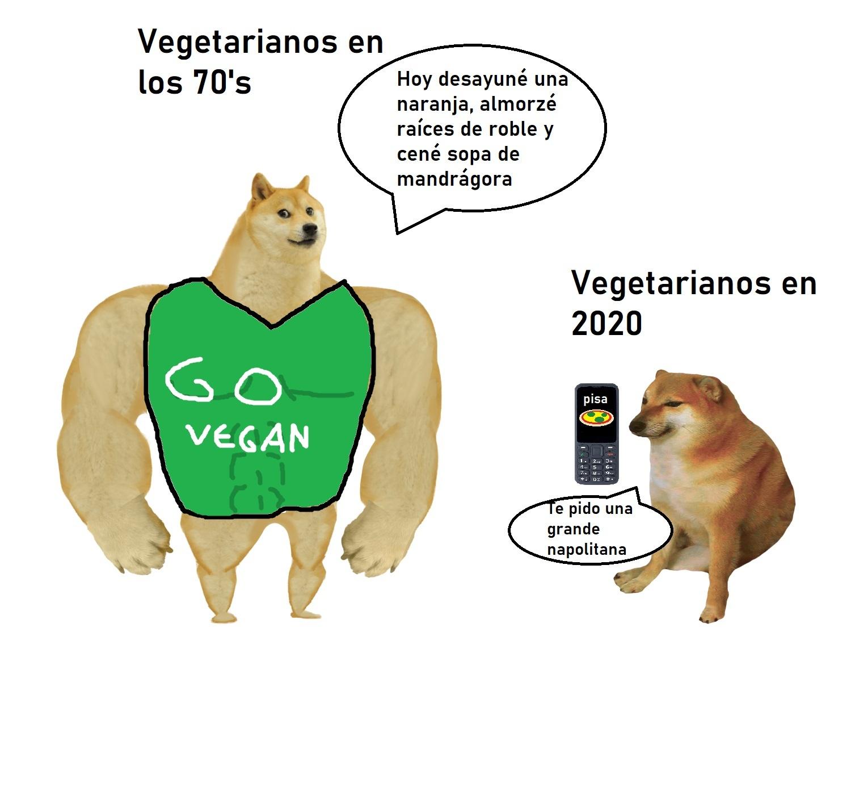Vegetarianos - meme
