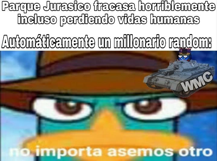 Carajo no entienden que mantener Jurassic park es imposible - meme