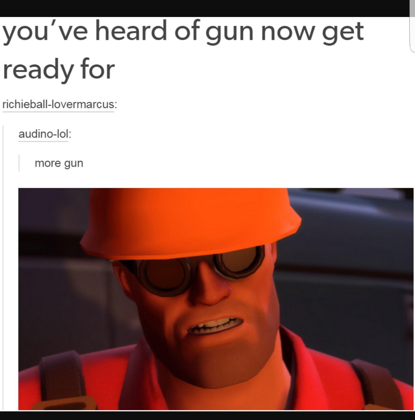 And more gun - meme