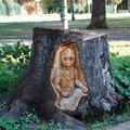 Baby Groot entalhado