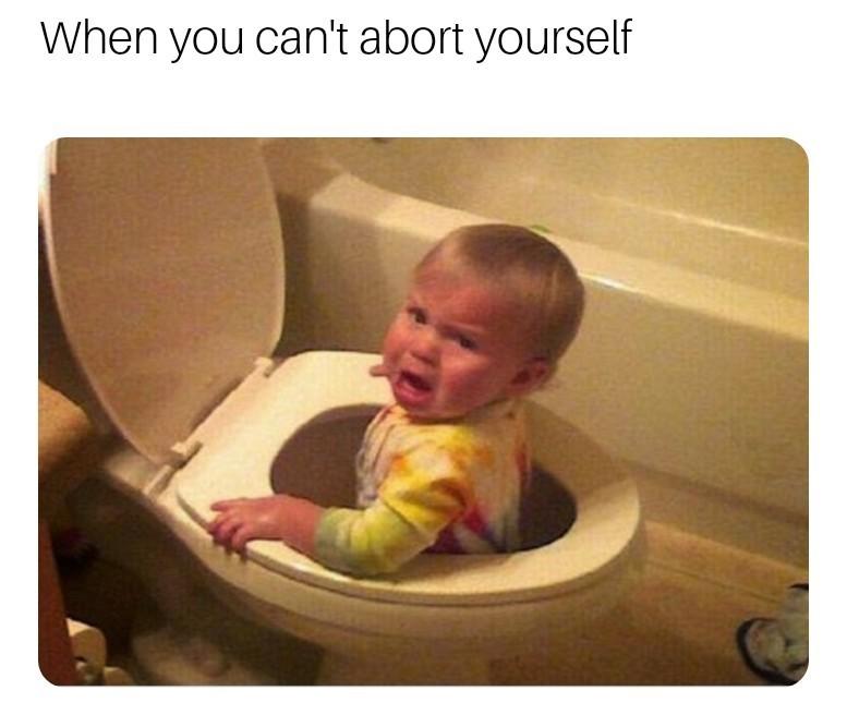 Abort - meme