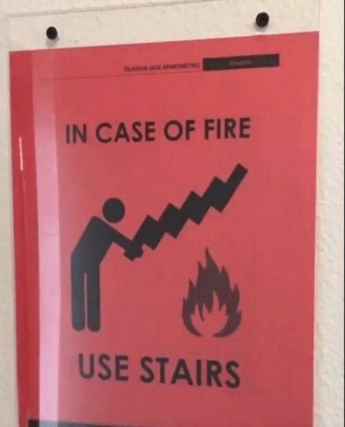 use stairs - meme