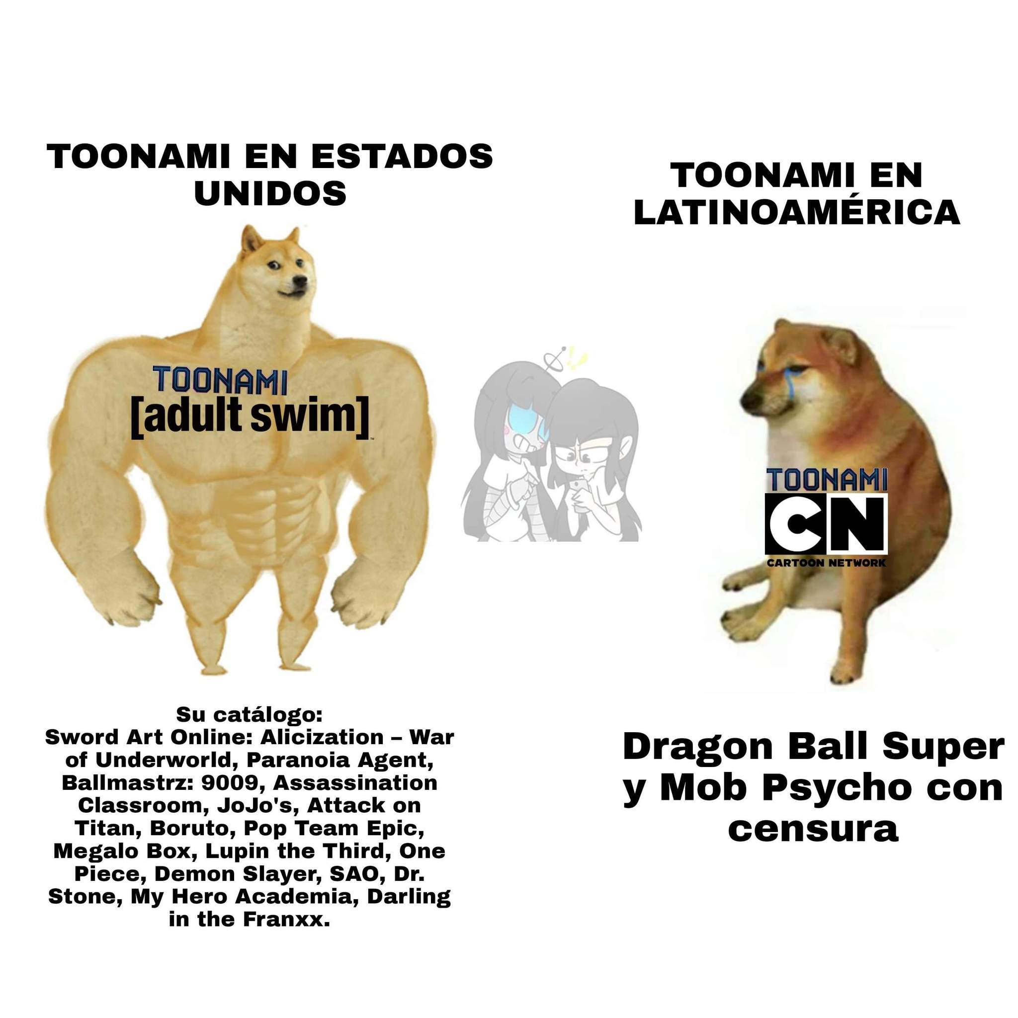 Que pasó Toonami Latinoamérica? Antes eras chévere :( - meme